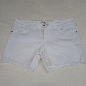 White Jean Shorts!